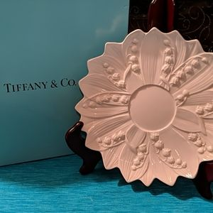 Tiffany & Co White Lily of the Valley Ceramic Plat